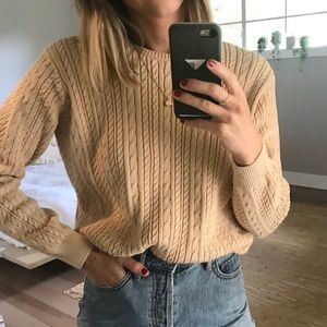 Vintage 100% Cotton Cableknit Sweater